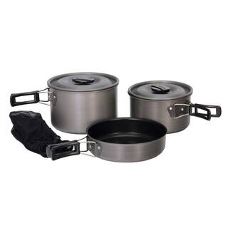Texsport Grey 'The Scouter' Cook Set|https://ak1.ostkcdn.com/images/products/7632295/P15050828.jpeg?impolicy=medium