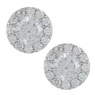 La Preciosa Sterling Silver Cubic Zirconia Martini-style Earrings