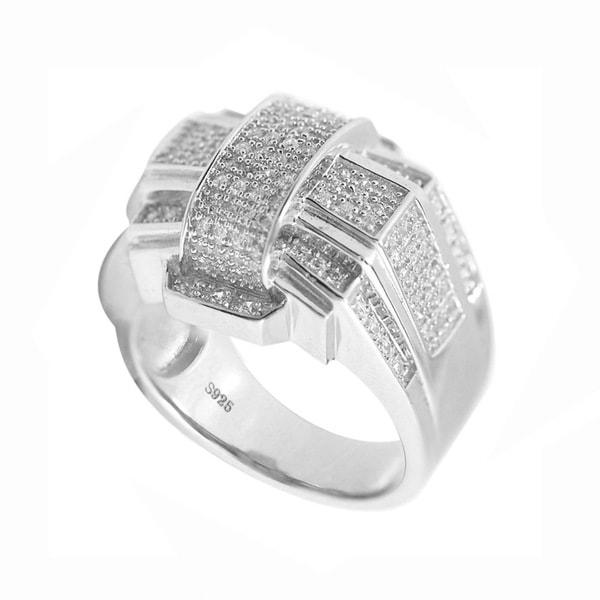 De Buman Sterling Silver Cubic Zirconia Ring