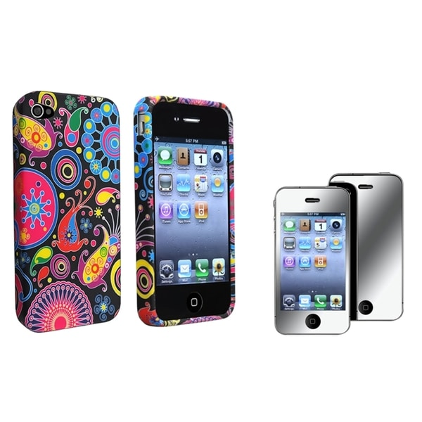 BasAcc TPU Case/ Mirror Screen Protector for Apple iPhone 4/ 4S