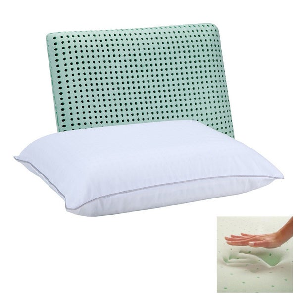 Dream Form Green Tea Ventilated Jumbo-size Memory Foam Pillow