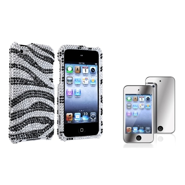INSTEN iPod Case Cover/ Mirror LCD Protector for Apple iPod Touch 4th Generation