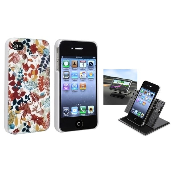 BasAcc Snap-on Case/ Dashboard Mounted Holder for Apple iPhone 4/ 4S
