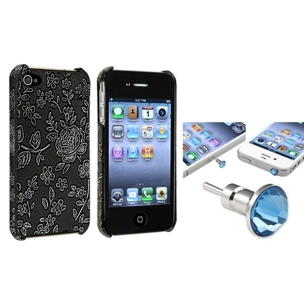 BasAcc Snap-on Case/ Blue Diamond Dust Cap for Apple iPhone 4/ 4S