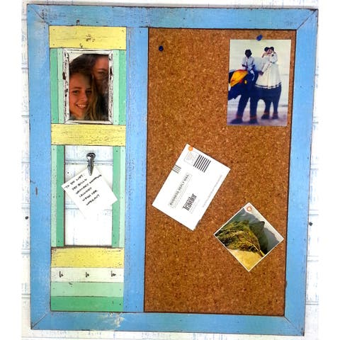 Handmade Reclaimed Wood Multi-Purpose Corkboard (Thailand)