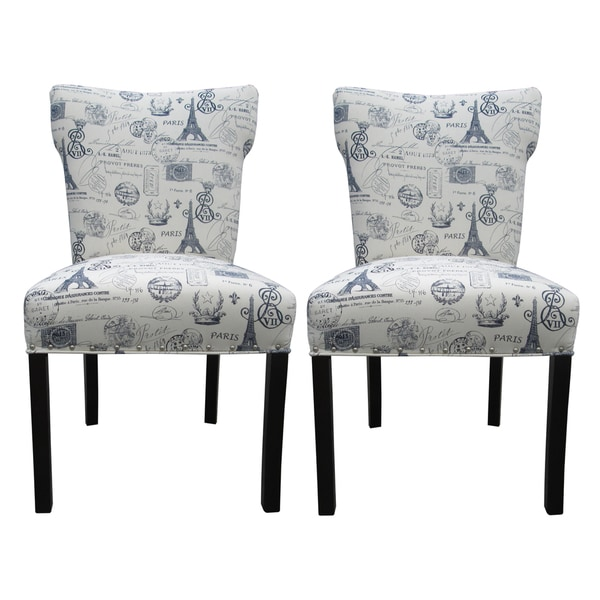 Bella French Blue Dining Chairs (Set of 2)