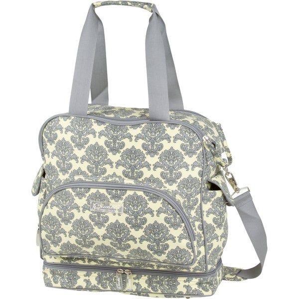 The Bumble Collection Camille Changing Bag in Yellow Filagree