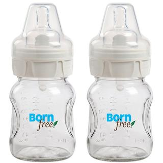 Born Free 5-ounce Wide Neck Glass Bottle (Pack of 2)