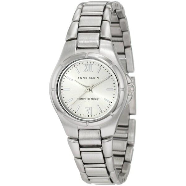 Anne Klein Women's Silver Brass Plated Stainless Steel Quartz Watch