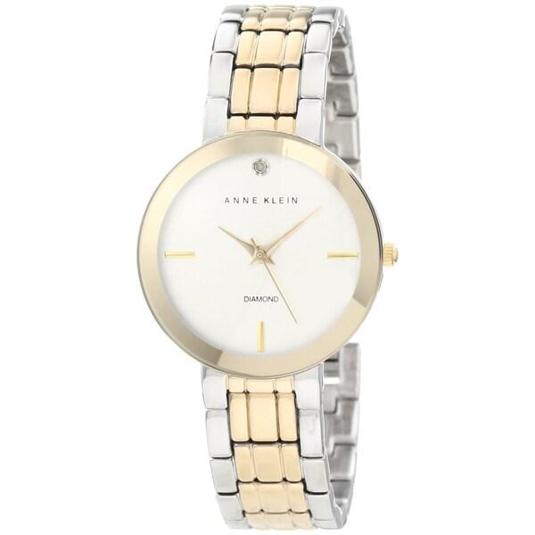 Anne Klein Women's Two-tone Brass Plated Stainless-Steel Quartz Watch
