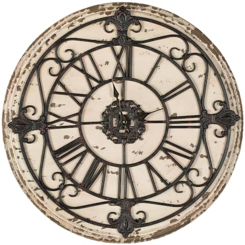 "Safavieh Jerry Antiqued Rust Clock - 25"" x 1.4"" x 25"""