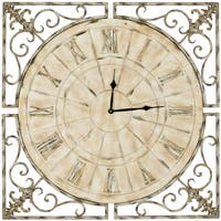 Safavieh Kathleen Antiqued White Clock