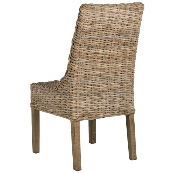 Safavieh Rural Woven Dining Suncoast Unfinished Natural Wicker Arm Chairs  (Set Of 2)   Free Shipping Today   Overstock.com   15052195