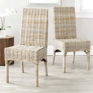 Safavieh Rural Woven Dining Beacon Unfinished Natural Wicker Chairs Set Of 2