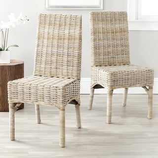 Safavieh Rural Woven Dining Beacon Unfinished Natural Wicker Dining Chairs ( Set Of 2)
