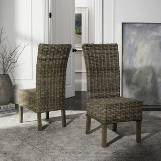 Safavieh Rural Woven Dining Quaker Unfinished Natural Wicker Side Chairs (Set of 2)