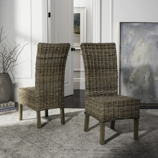 Safavieh Rural Woven Dining Quaker Unfinished Natural Wicker Dining Chairs  (Set Of 2)