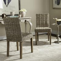 Safavieh Rural Woven Dining Grove Unfinished Natural Wicker Dining Chairs (Set of 2)