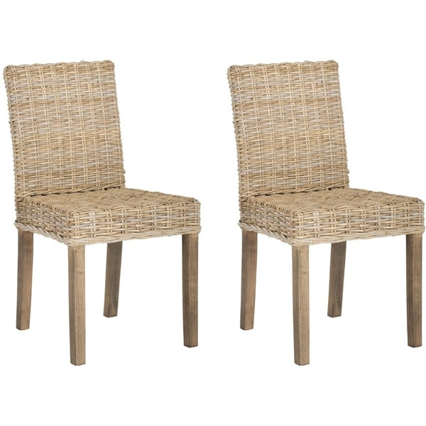 Safavieh Rural Woven Dining Grove Unfinished Natural Wicker Side Chairs (Set of 2)