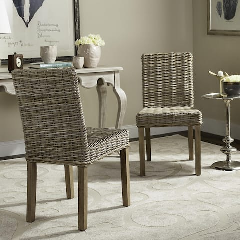 "Safavieh Rural Woven Dining Grove Unfinished Natural Wicker Dining Chairs (Set of 2) - 19"" x 22.5"" x 34.5"""