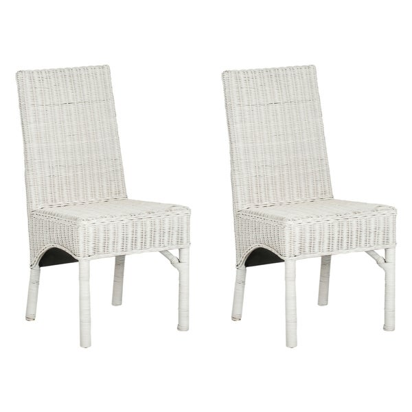 Wicker Chairs Dining: Shop Safavieh Rural Woven Dining Sommerset White Kubu