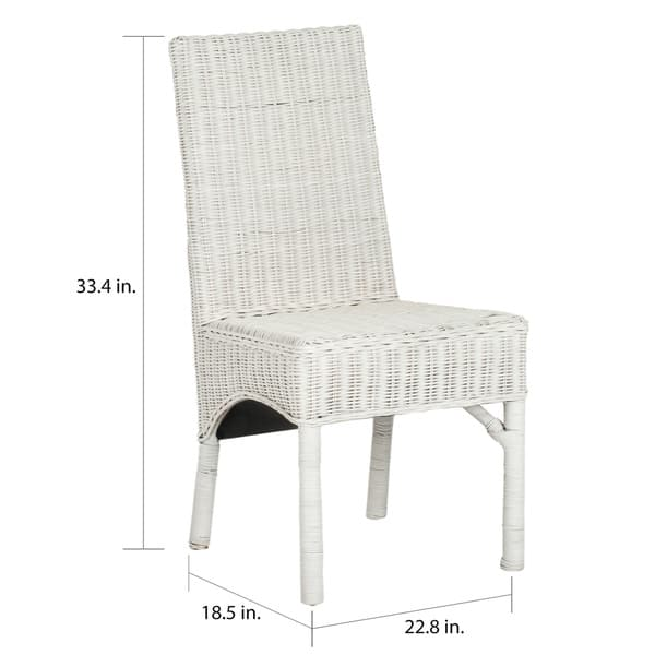 Safavieh Rural Woven Dining Sommerset White Kubu Wicker