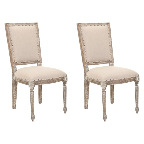 Safavieh Old World Dining Andrew Grey Dining Chairs (Set of 2)