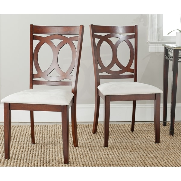 Safavieh Country Classic Dining Drew White Side Chairs (Set of 2)