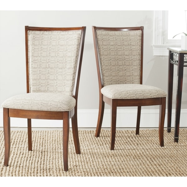 Safavieh Parsons Dining Tyrone Beige Side Chairs (Set of 2)