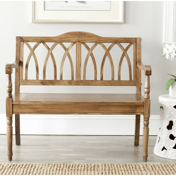 Safavieh Benjamin Oak Finish Bench