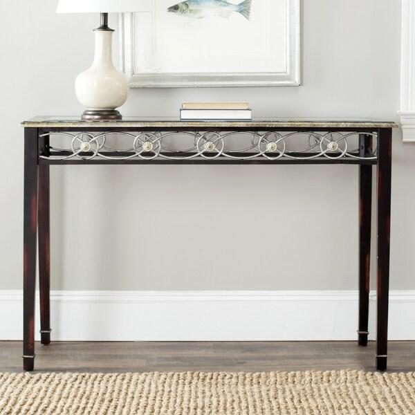 Safavieh Lisa Antiqued Black Console Table