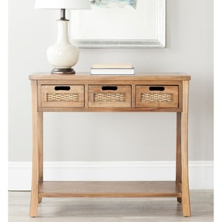 """Link to Safavieh Autumn Brown 3-drawer Console Table - 34"""" x 14"""" x 30"""" Similar Items in Living Room Furniture"""