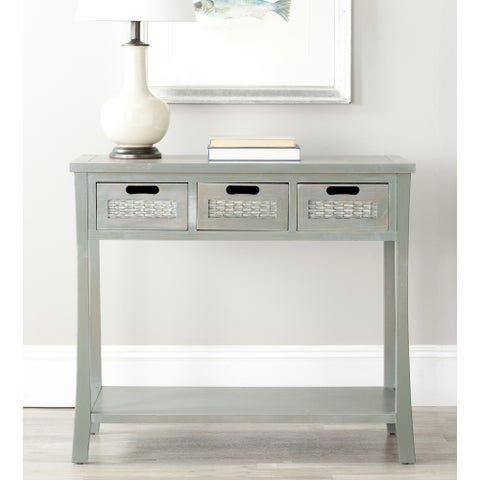 Safavieh Autumn Blue/ Grey 3-drawer Console Table