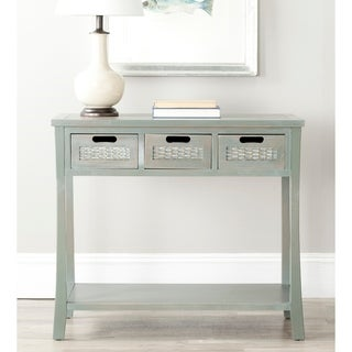 """Link to Safavieh Autumn Blue/ Grey 3-drawer Console Table - 34"""" x 14"""" x 30"""" Similar Items in Living Room Furniture"""