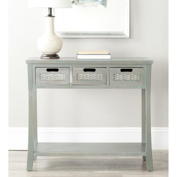 Shop Safavieh Autumn Blue Grey 3 Drawer Console Table