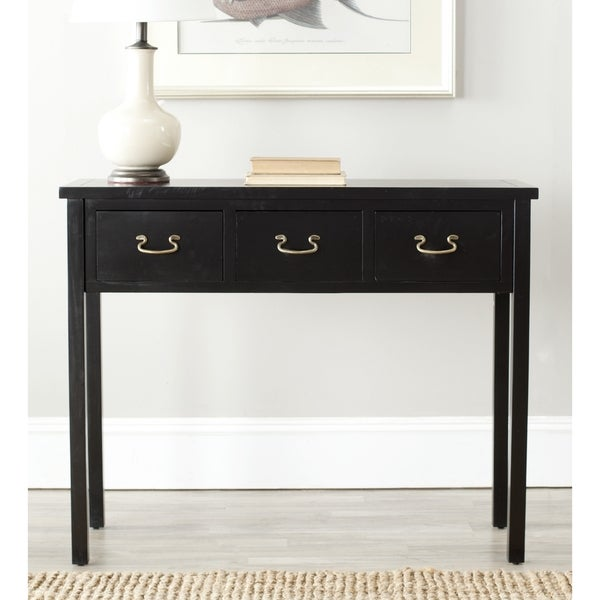 Overstock Foyer Furniture : Safavieh cindy black console table free shipping today