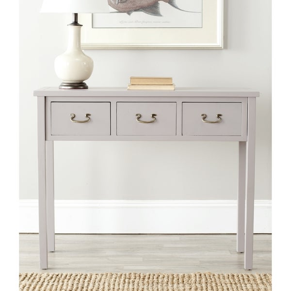 Safavieh Cindy Grey Console Table Free Shipping Today Overstock