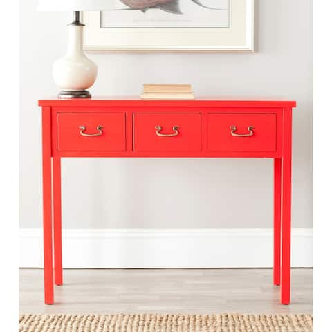 """SAFAVIEH Cindy Red Console Table - 39.4"""" x 14.2"""" x 31.7"""""""
