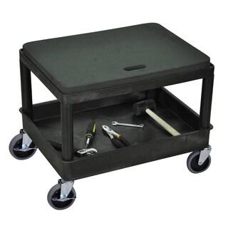 Luxor MS21-B Black Mobile Mechanics Seat