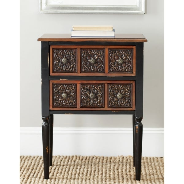 Safavieh Kenneth Dark Brown Storage Side Table