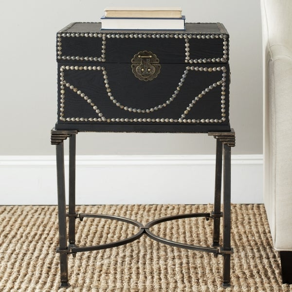 Safavieh Anthony Dark Brown Storage Side Table