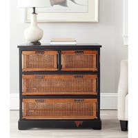 Safavieh Jackson Black 4-drawer Wicker Basket Storage Unit