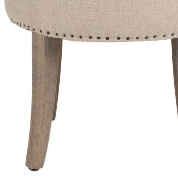 Groovy Shop Safavieh Georgia Beige Vanity Stool 17 9 X 19 X Machost Co Dining Chair Design Ideas Machostcouk