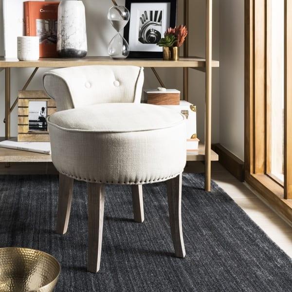 Excellent Shop Safavieh Georgia Beige Vanity Stool On Sale Free Machost Co Dining Chair Design Ideas Machostcouk