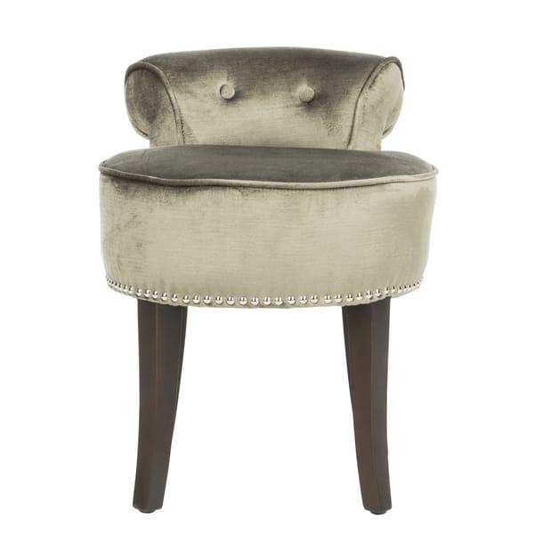 Wondrous Shop Safavieh Georgia Pewter Vanity Stool 18W X 19D X 23 Creativecarmelina Interior Chair Design Creativecarmelinacom