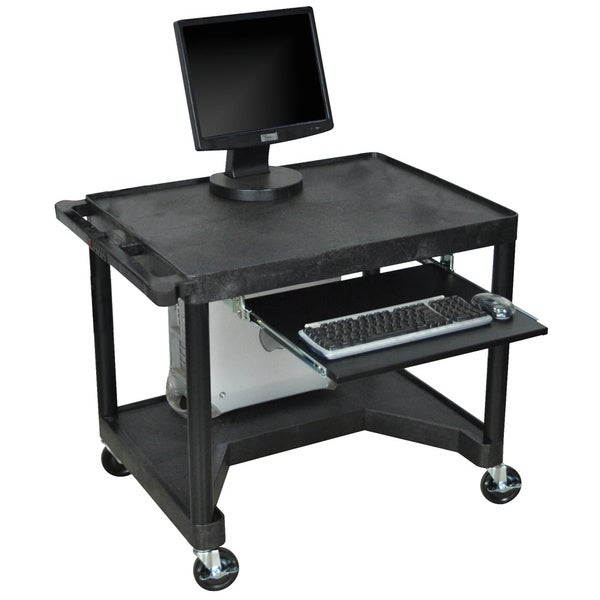 Luxor Black LEM32K-B Computer Work Station