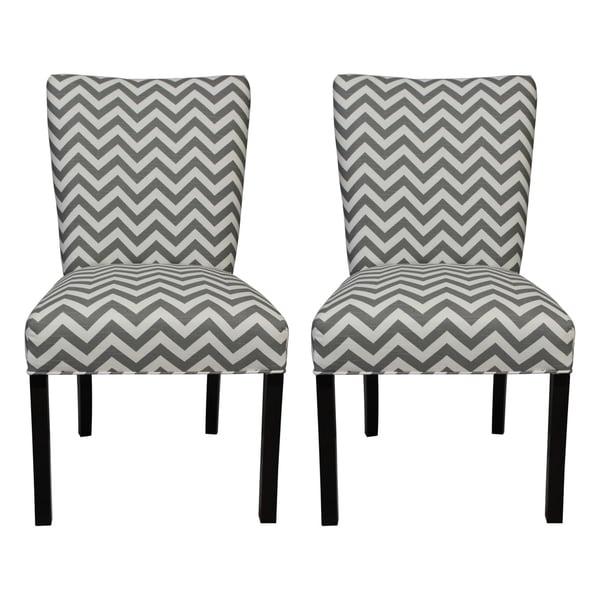 Julia Zig Zag Grey Dining Chairs (Set of 2)