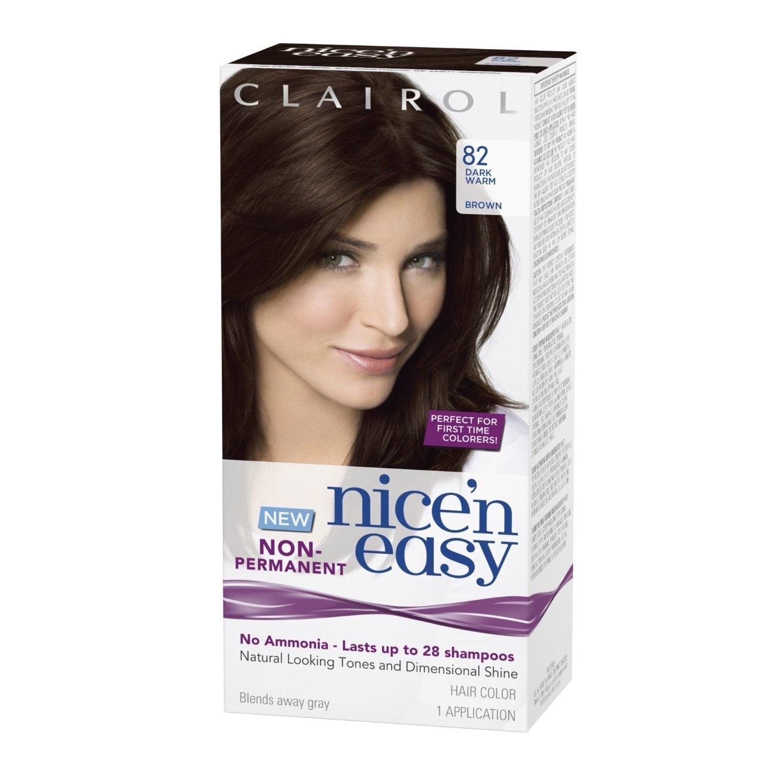 Clairol Nice 'n Easy 82 Dark Warm Brown Non-Permanent Hai...