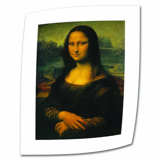 Leonardo Da Vinci 'Mona Lisa' 18x26 Flat Canvas