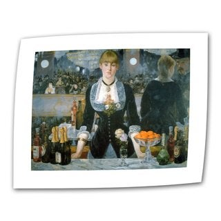 Edouard Manet 'A Bar at The Folies-Bergere' Flat Canvas - Multi